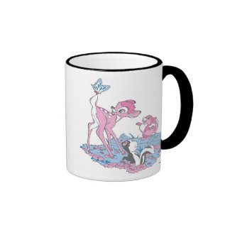 Bambi, Thumper, and Flower with Butterfly Ringer Coffee Mug