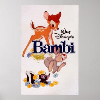 Bambi Thumper Flower Poster
