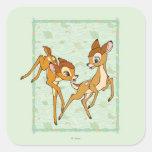 Bambi y Faline Pegatina Cuadrada