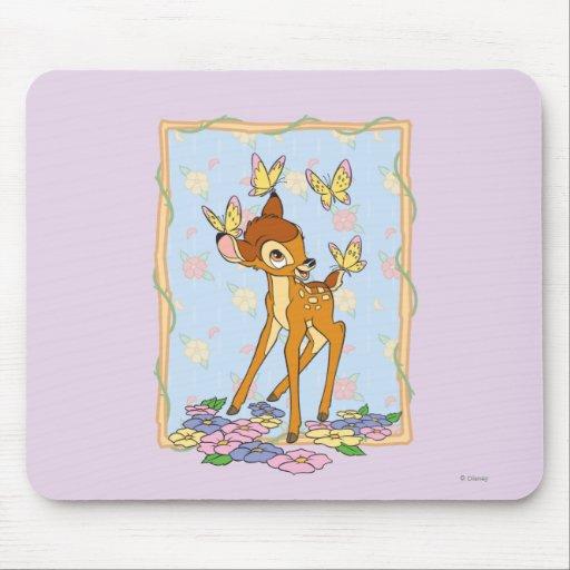 Bambi y mariposas alfombrillas de raton