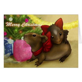 Bambi y tarjeta de Navidad de la contracción nervi