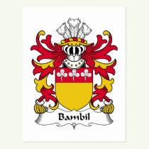 Bambil Family Crest Postcard