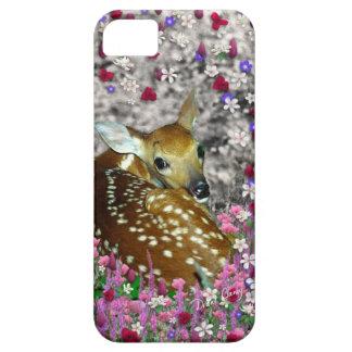 Bambina el cervatillo en las flores II iPhone 5 Case-Mate Cárcasas