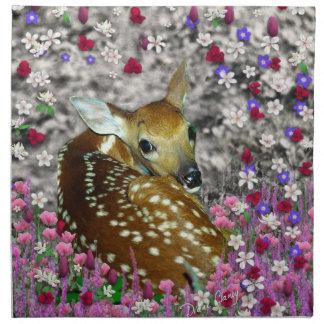 Bambina el cervatillo en las flores II Servilleta De Papel