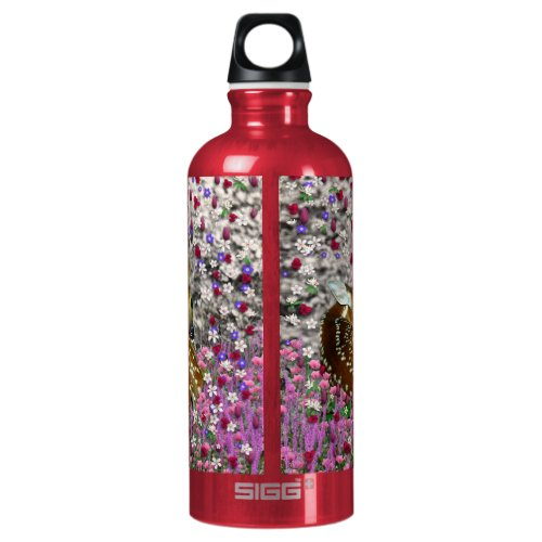Bambina the Fawn in Flowers II Aluminum Water Bottle