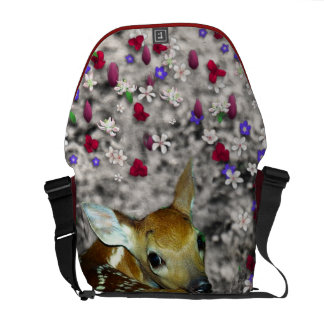 Bambina the Fawn in Flowers II Courier Bags