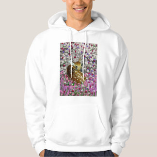Bambina the Fawn in Flowers II Hoodie