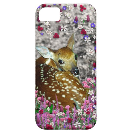 Bambina the Fawn in Flowers II iPhone SE/5/5s Case
