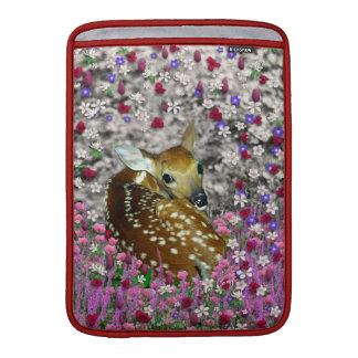 Bambina the Fawn in Flowers II MacBook Air Sleeve