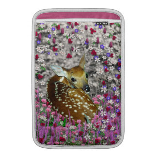 Bambina the Fawn in Flowers II MacBook Sleeve
