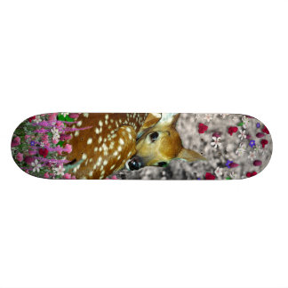 Bambina the Fawn in Flowers II Skateboard