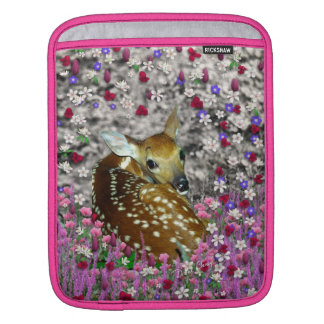Bambina the Fawn in Flowers II Sleeves For iPads