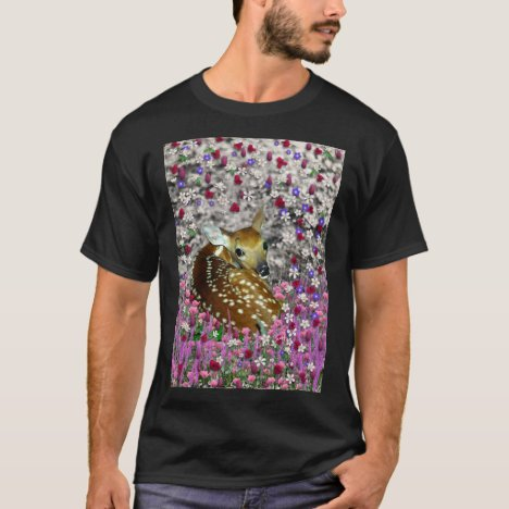 Bambina the Fawn in Flowers II T-Shirt