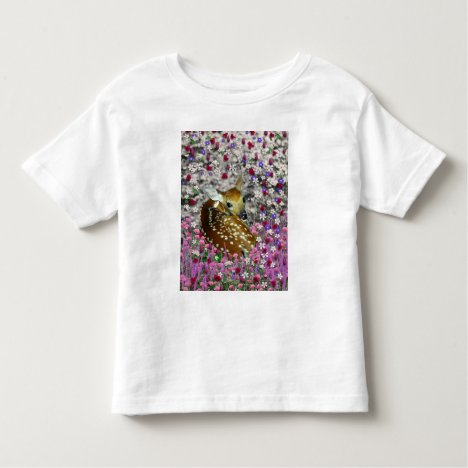 Bambina the Fawn in Flowers II Toddler T-shirt