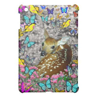 Bambina the White-Tailed Fawn in Butterflies iPad Mini Cover