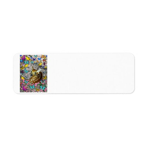 Bambina the White-Tailed Fawn in Butterflies Return Address Label