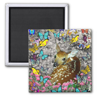 Bambina the White-Tailed Fawn in Butterflies Magnet
