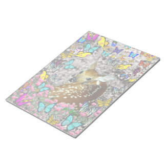 Bambina the White-Tailed Fawn in Butterflies Memo Notepads