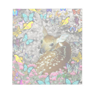 Bambina the White-Tailed Fawn in Butterflies Notepad
