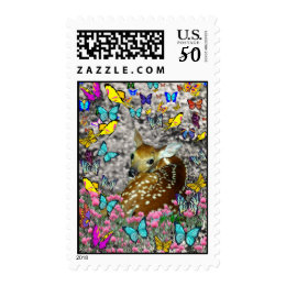 Bambina the White-Tailed Fawn in Butterflies Postage