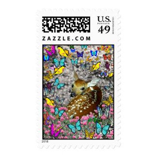 Bambina the White-Tailed Fawn in Butterflies Postage Stamps