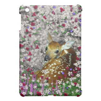 Bambina the White-Tailed Fawn in Flowers I iPad Mini Cases