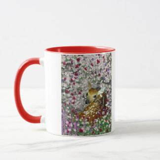 Bambina the White-Tailed Fawn in Flowers I Mug