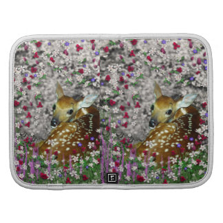 Bambina the White-Tailed Fawn in Flowers I Organizer