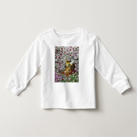 Bambina the White-Tailed Fawn in Flowers I Toddler T-shirt