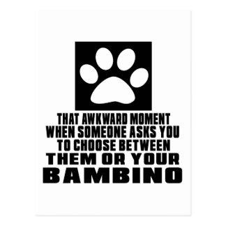 BAMBINO AWKWARD DESIGNS POSTCARD