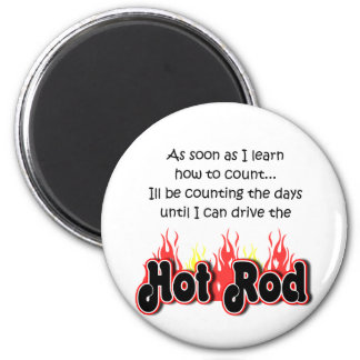 Bambino Babble Hot Rod Count Magnet