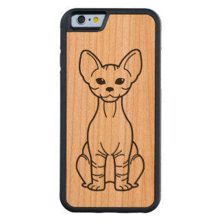 Bambino Cat Cartoon Carved Cherry iPhone 6 Bumper Case