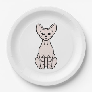 Bambino Cat Cartoon Paper Plate