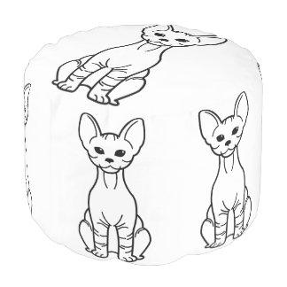Bambino Cat Cartoon Pouf