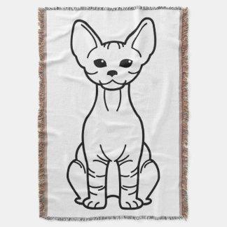 Bambino Cat Cartoon Throw Blanket