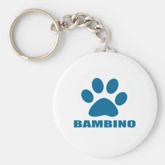 BAMBINO CAT DESIGNS KEYCHAIN