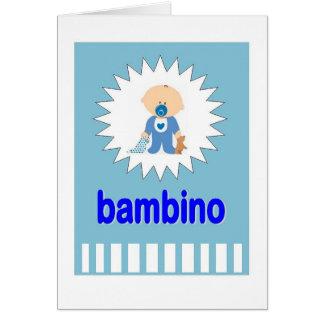 Bambino - nuevo bebé en Italiano Tarjeta De Felicitación