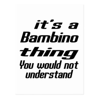 Bambino thing designs postcard