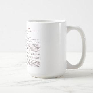 Bamboleo (inglés (significado)) taza clásica