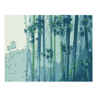 Bamboo 1, Perfect for Duvet or Shower Curtain Postcard