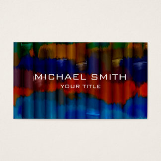 Bamboo Acrylic Painting #3 Business Card