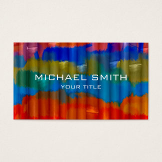 Bamboo Acrylic Painting Business Card
