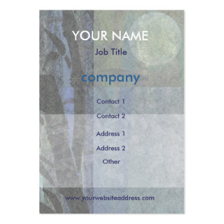 Bamboo and Blossoms Blue Business Cards
