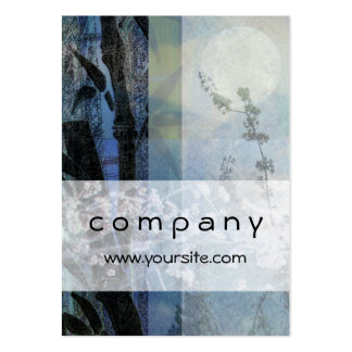 Bamboo and Blossoms Blue Business Card