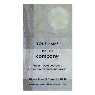 Bamboo and Blossoms Blue Double-Sided Standard Business Cards (Pack Of 100)