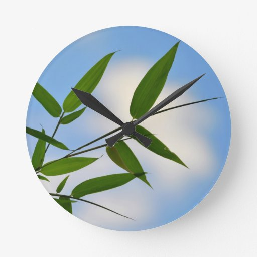 Bamboo and Blue Sky Clock