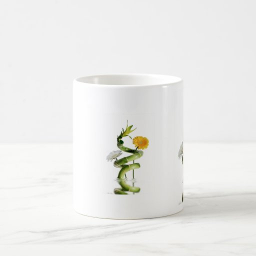 Bamboo and gerbera daisies mug