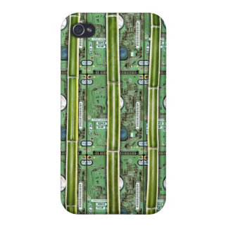 Bamboo and Hard Drives iPhone 4 Case