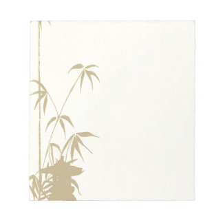 Bamboo and Japanese Lantern Note Pad