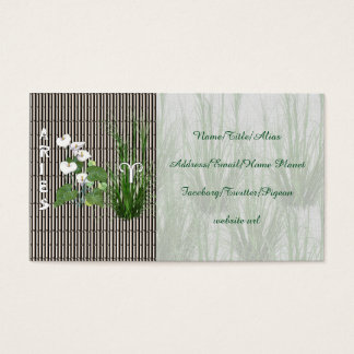 Bamboo and Lily Aries Business Card